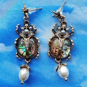 Gorgeous Scarab Beetle Earrings